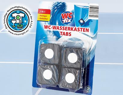 WC-Wasserkasten Tabs 2in1, 4x 50 g, Juli 2013