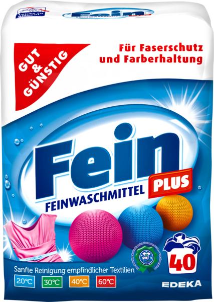 Feinwaschmittel 'Fein Plus' Pulver, Dezember 2017