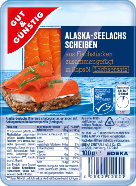 Alaska Seelachs Scheiben, Dezember 2017