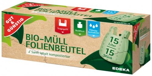 Bio-Müll Folienbeutel 10 Liter, Dezember 2017