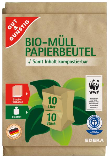 Bio-Müll Papierbeutel 10 Liter, Dezember 2017
