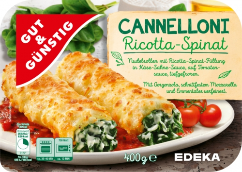 Cannelloni Ricotta-Spinat, Dezember 2017