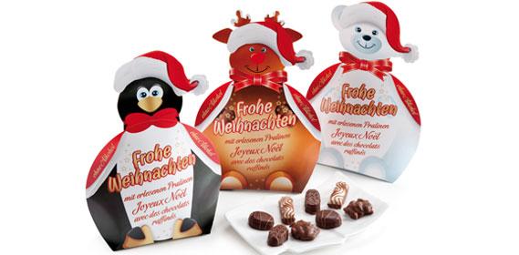 """Pralinenmischung """"Frohe Weihnachten"""", Dezember 2013"""