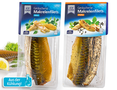 Geräucherte Makrelenfilets, April 2014