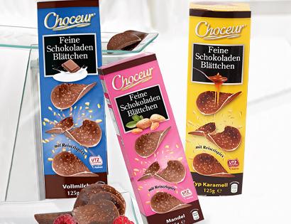 Feine Schokoladen-Blättchen, Oktober 2013