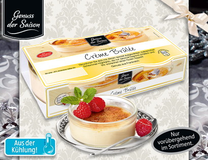 Crème Brûlée, 2x 100 g, November 2013