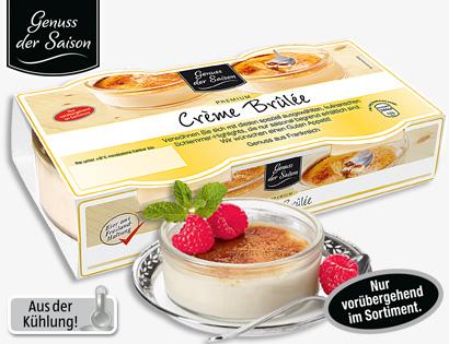 Crème Brûlée, 2x 100 g, April 2014