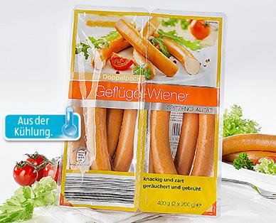 Geflügel-Wiener, 2x 200 g, Januar 2015