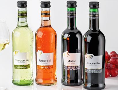 Miniwein-Sortiment, Januar 2014
