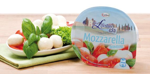 Mozzarella Bambini light, 8,5 % Fett absolut (New Lifestyle), Januar 2014