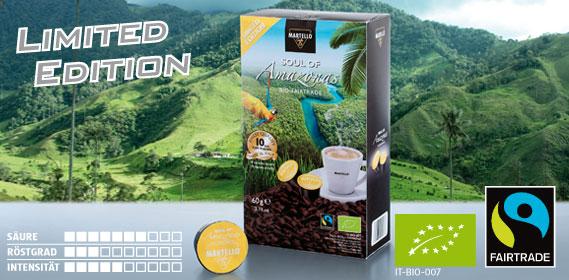 Bio-Café-Kapseln Soul of Amazonas, Januar 2014