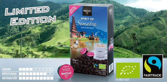 Bio-Cafè-Kapseln Spirit of Sumatra, Januar 2014