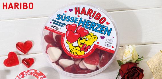 Haribo Süße Herzen, 500 g Dose, Januar 2014