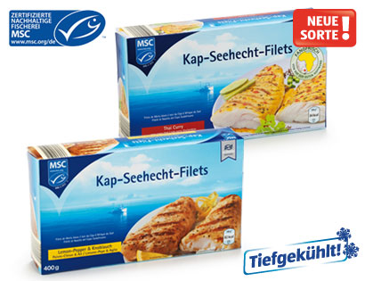 MSC Kap-Seehecht-Filets, Lemon-Pepper & Knoblauch, Januar 2014