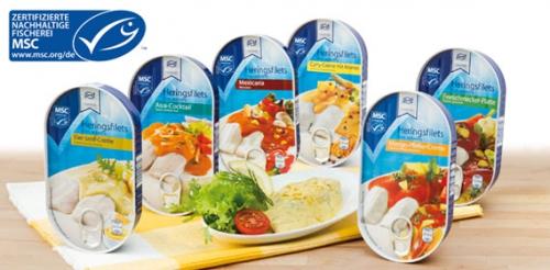 MSC Heringsfilets in Sauce, Mango-Pfeffer-Creme, Januar 2014