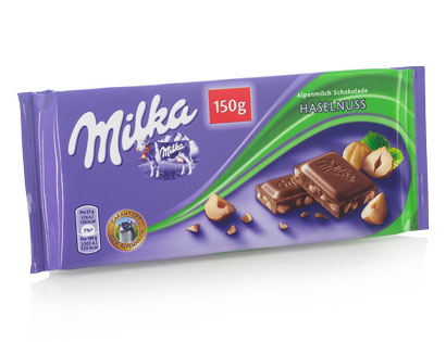 Milka Alpenmilch-Schokolade Haselnuss, Februar 2014