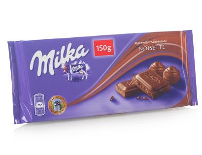 Milka Alpenmilch-Schokolade Noisette, Februar 2014