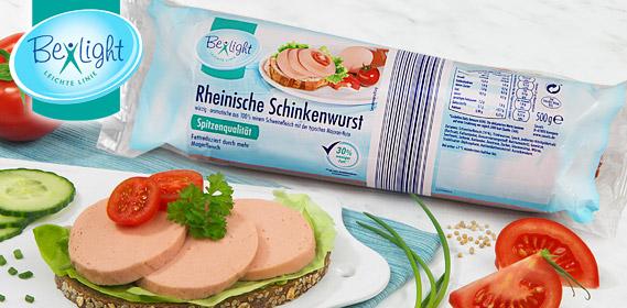 Schinkenwurst-Sortiment, Februar 2012