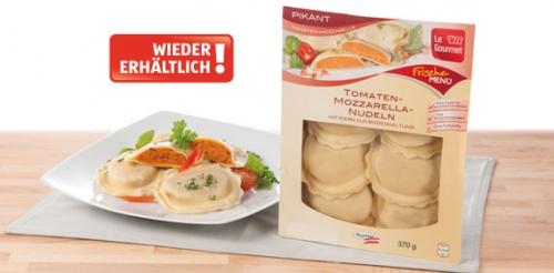 Österr. Nudelspezialität,Tomaten-Mozzarella-Nudeln Nudeln, frisch, Februar 2014