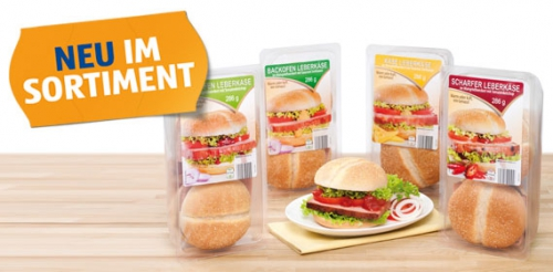 Burger, Backofen-Leberkäse mit Tomatenketchup, Februar 2014