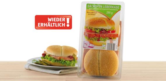 Burger,  Backofenleberkäse mit Gourmet Senfsauce , Oktober 2013