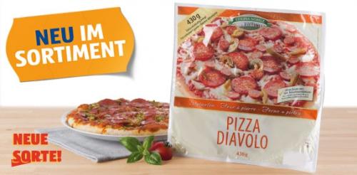 Steinofen-Pizza Diavolo, frisch, Februar 2014