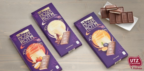 Edel Vollmilchschokolade gefüllt, Winteredition Milch-Mousse, 5 x 37,5 g, Februar 2014