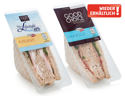 READY 2 EAT Frisches Sandwich light, Pute (New Lifestyle), Februar 2014