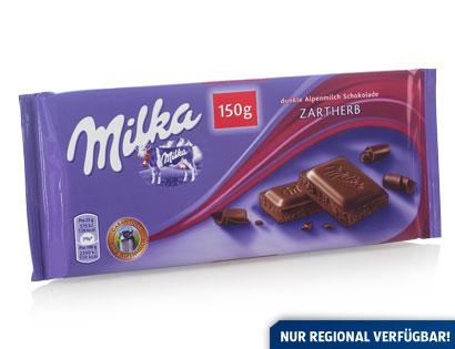 Milka Dunkle Alpenmilch-Schokolade Zartherb, Februar 2014