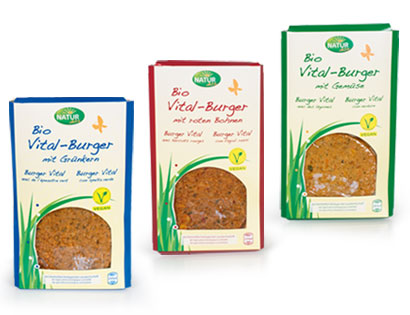 Bio-Vital-Burger mit roten Bohnen, Februar 2014