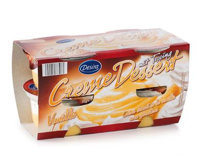 Creme Dessert mit Topping, Vanille, 4 x 115 g, Juni 2014