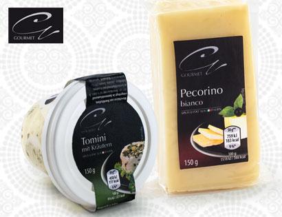 Gourmet Ital. Käsespezialität, Caciotta mit Trüffeln, Februar 2014