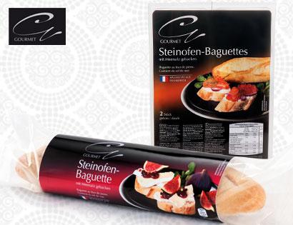 Gourmet Orig. franz. Steinofenbaguette, 2 x 125 g, zum Aufbacken, Februar 2014