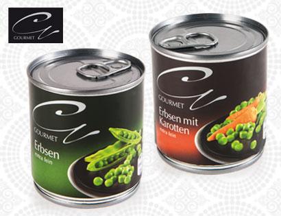 Mini Pack Gemüse, Erbsen extra fein, 3 x 212-ml, Februar 2014