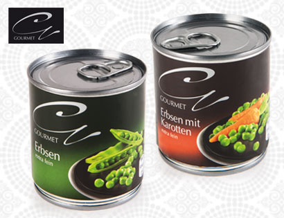 Mini Pack Gemüse, Erbsen extra fein mit Karotten, 3 x 212-ml, Februar 2014