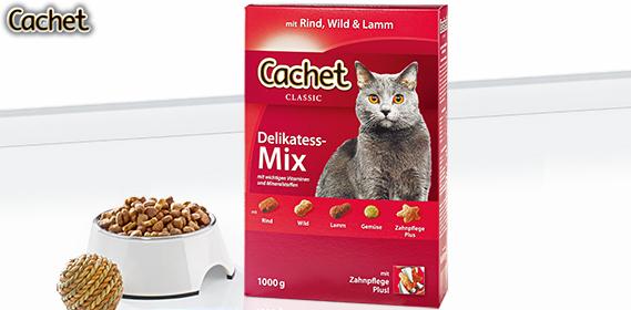 Katzenvollnahrung Delikatess-Mix, Februar 2013