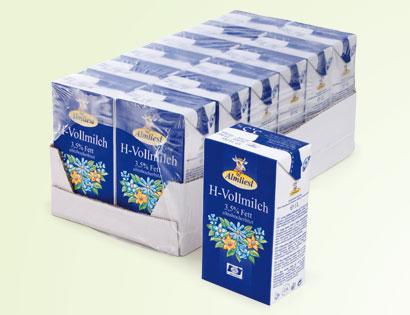 H-Vollmilch, 3,5 % Fett, 12 x 1 Liter, M�rz 2014