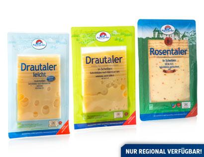 Drautaler leicht in Scheiben,  ca. 13 % Fett absolut, M�rz 2014