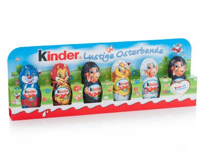 Kinder Schokolade-Osterfiguren, 6 x 15 g, M�rz 2014