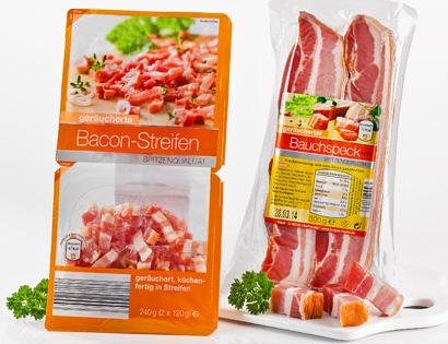 Bacon-Streifen oder Bauchspeck, M�rz 2014