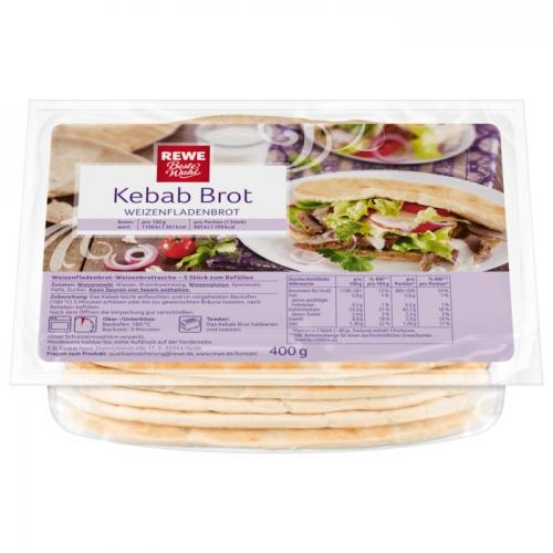 Kebab-Brot - Weizenfladenbrot, Dezember 2017