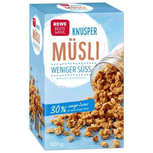 Knusper-Müsli weniger süß, August 2017