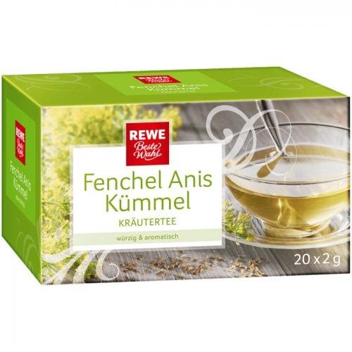 Kräutertee Fenchel-Anis-Kümmel, Februar 2017