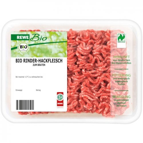 Bio-Rinder-Hackfleisch 400g, Januar 2018