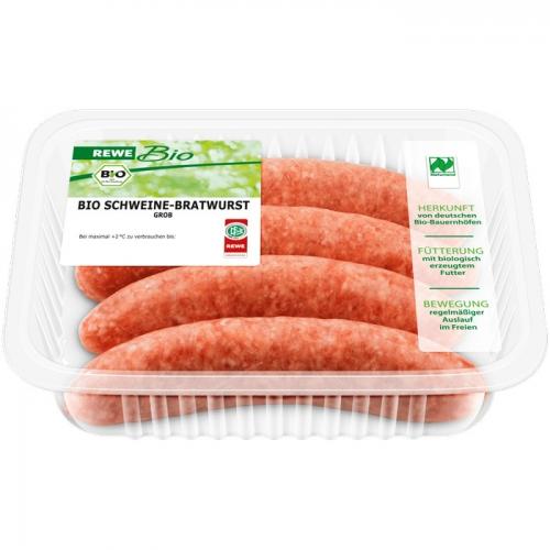 Bio Schweine-Bratwurst grob, September 2017