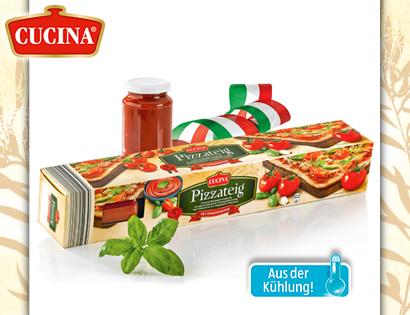 Pizzateig mit Tomatensauce, Januar 2014
