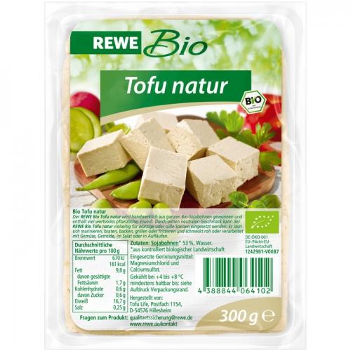 Tofu natur, Februar 2017