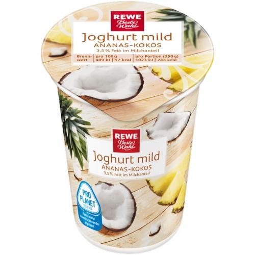 Joghurt mild Ananas-Kokos, Januar 2018
