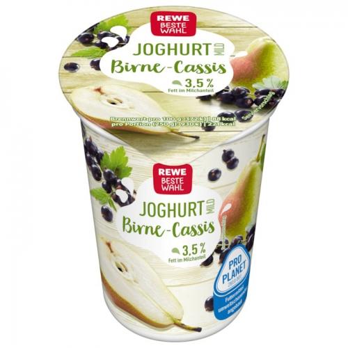 Joghurt mild Birne-Cassis, Mai 2018