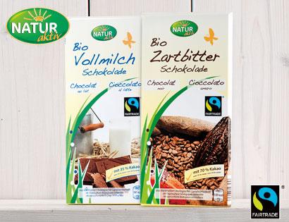 Bio-Zartbitterschokolade, 70 % Kakao, FAIRTRADE, Mai 2014
